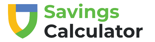 Shield icon and text 'Savings Calculator'